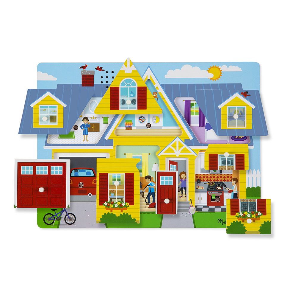 Melissa & Doug Sound Puzzle ~ Around the House 2+