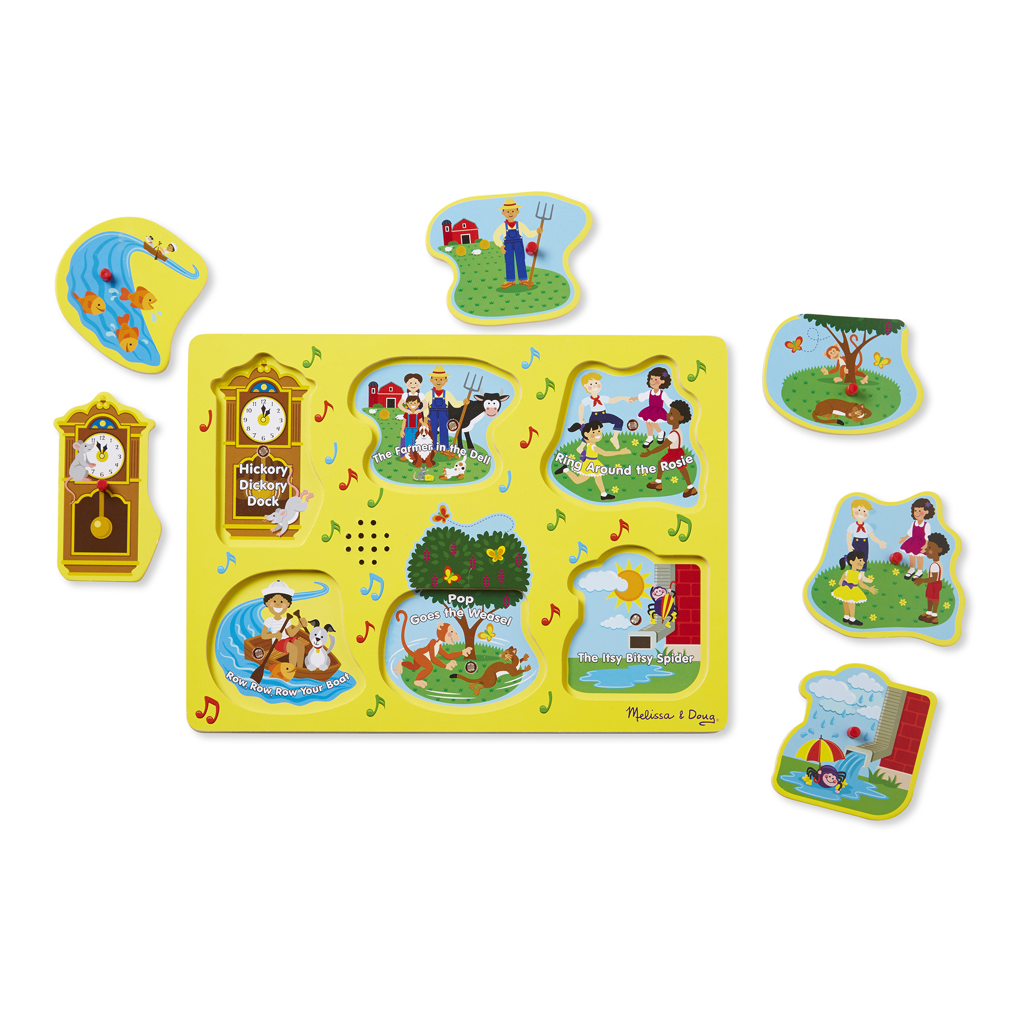 Melissa & Doug Sound Puzzle ~ Sing-Along Nursery Rhymes 2+ Yellow