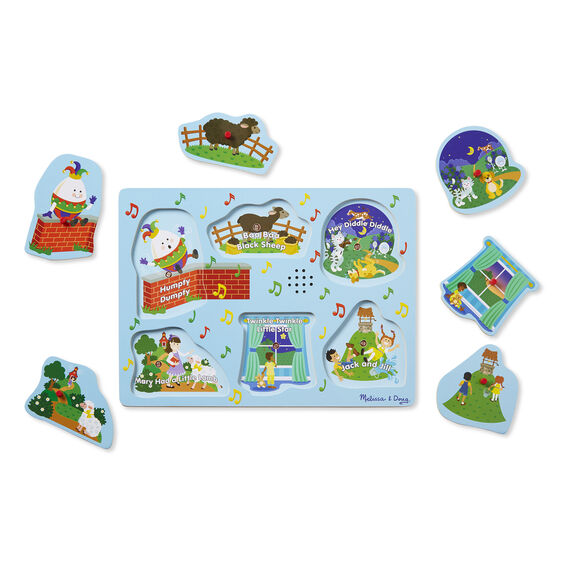 Melissa & Doug Sound Puzzle ~ Sing-Along Nursery Rhymes 2+ BLUE