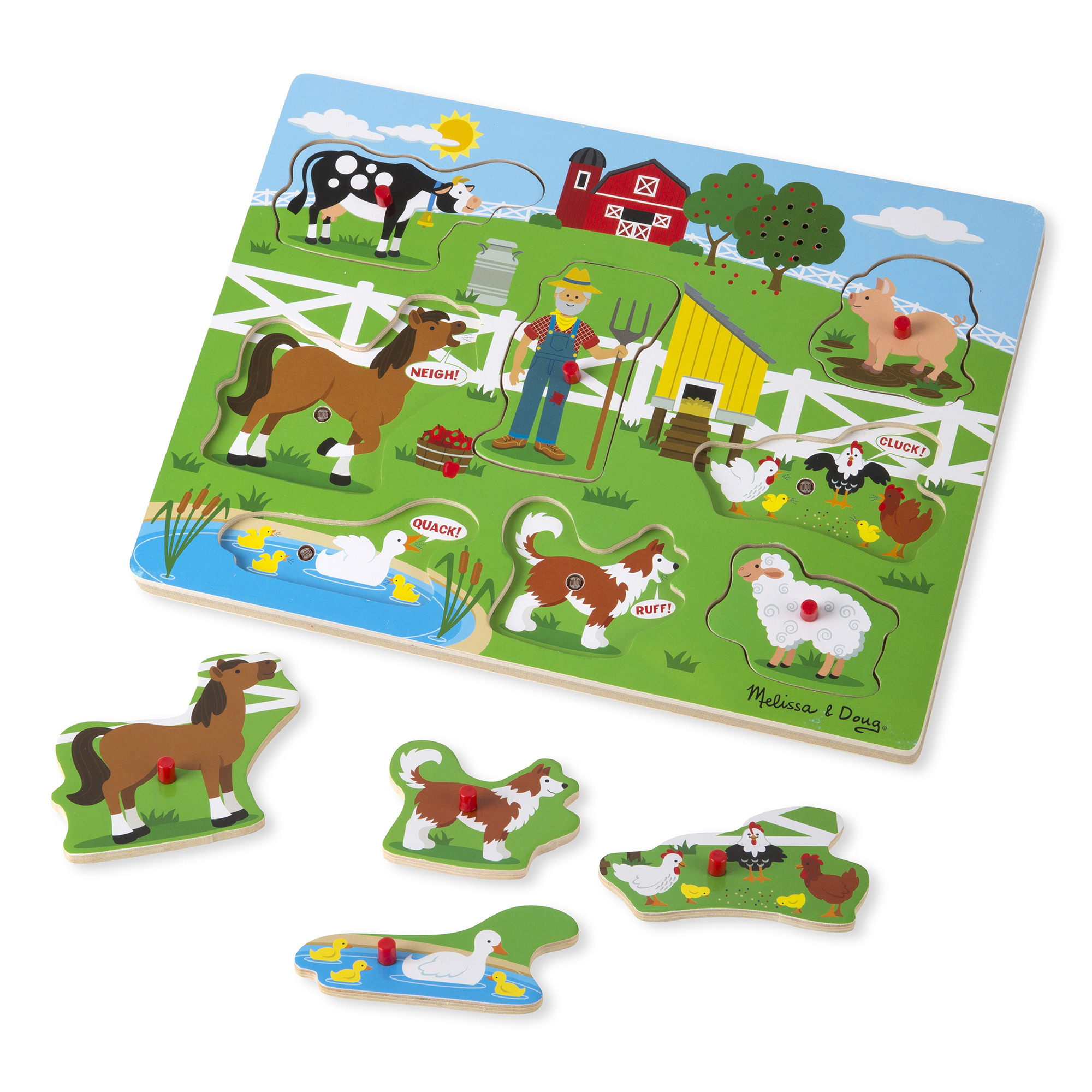 Melissa & Doug Sound Puzzle ~ Old Mac Donald's Farm 2+