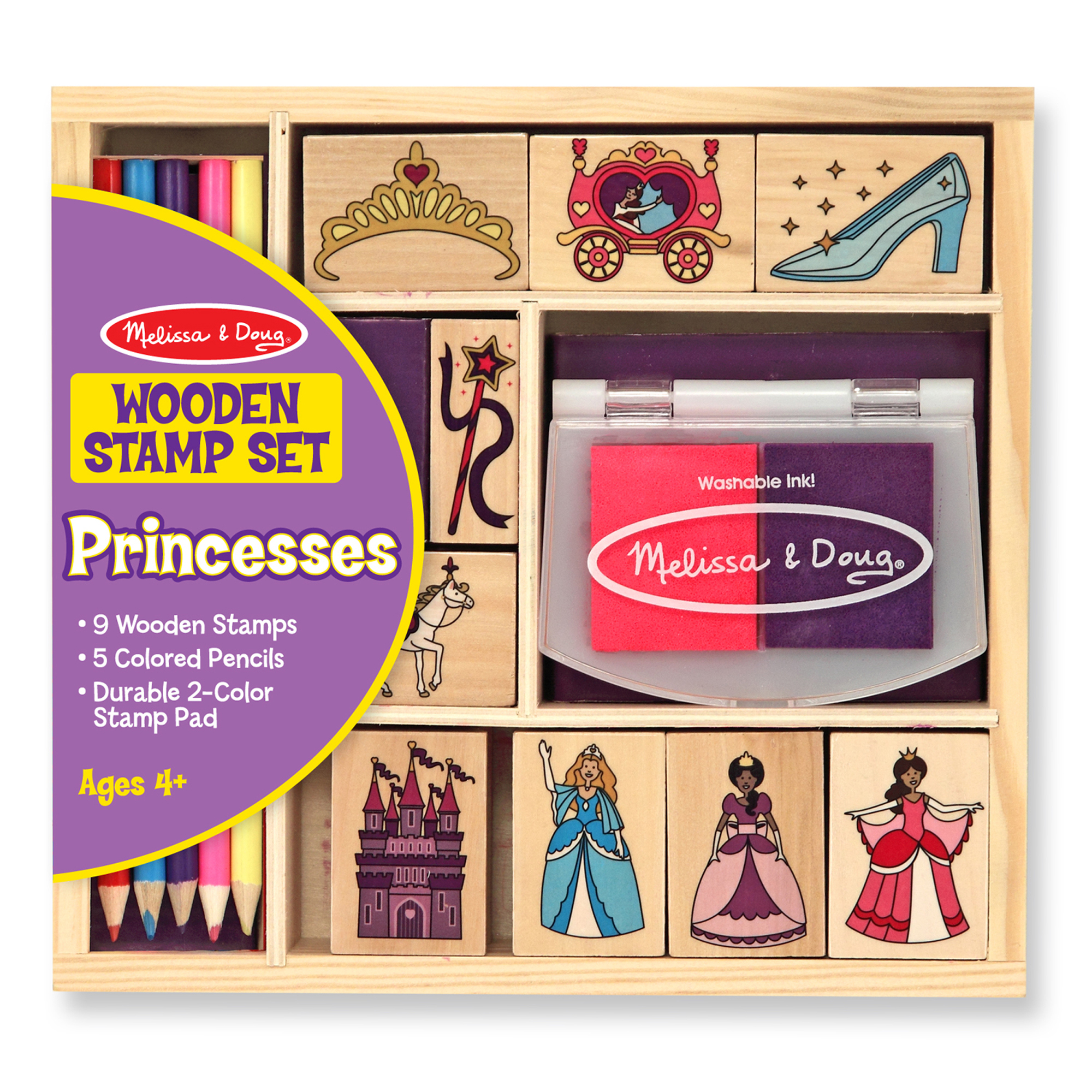 Melissa & Doug  ~ Wooden Stamp Set - Princesses ~ 4+