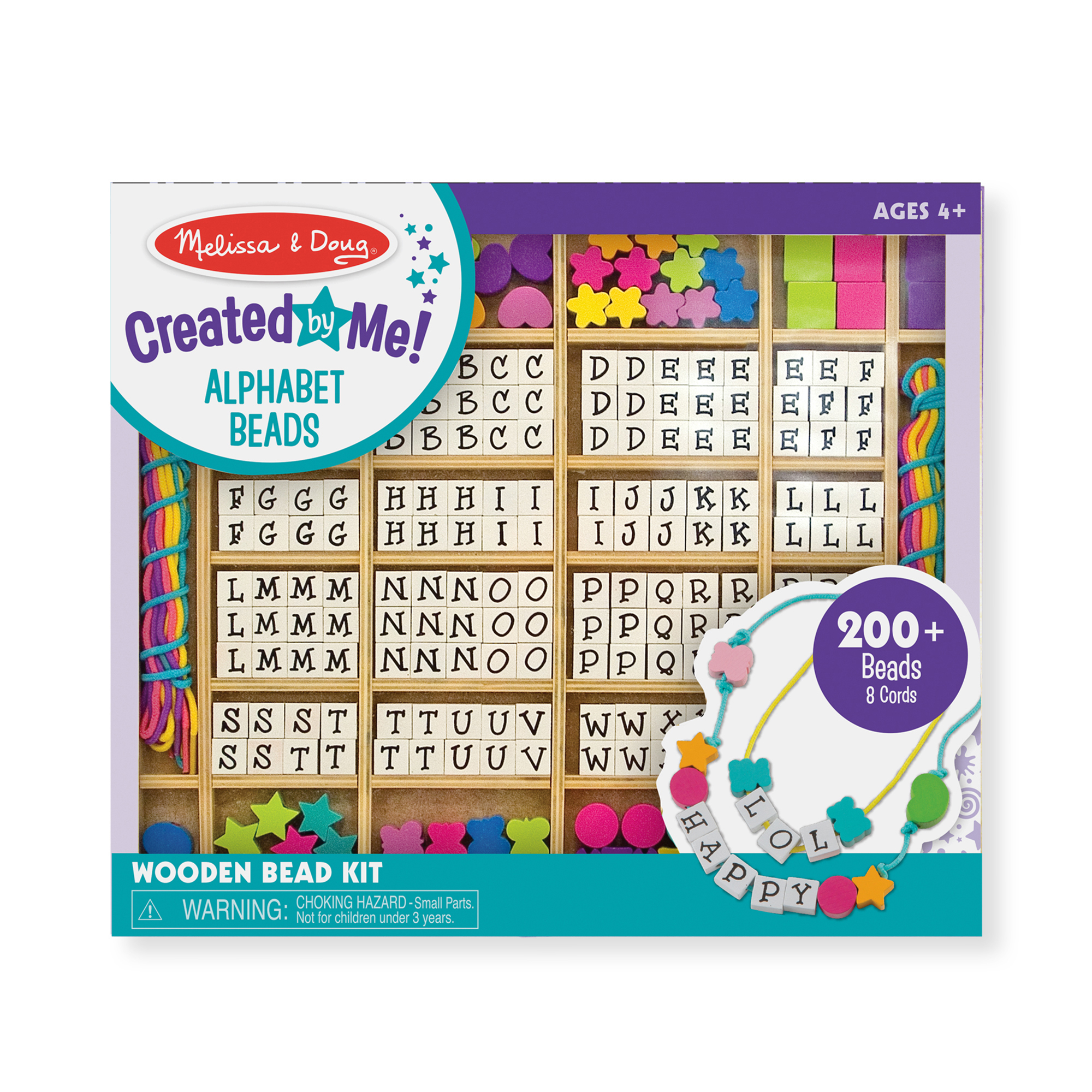 Melissa & Doug  ~ Created by Me! Alphabet Beads Wooden Bead Kit ~ 4+