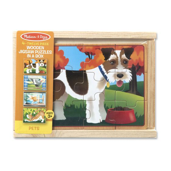 Melissa & Doug  ~ Wooden Jigsaw Puzzles in a Box ~ Pets