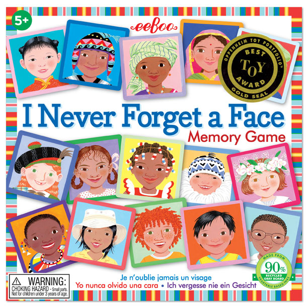 I Never Forget a Face Square Matching ~ Memory Game by eeBoo