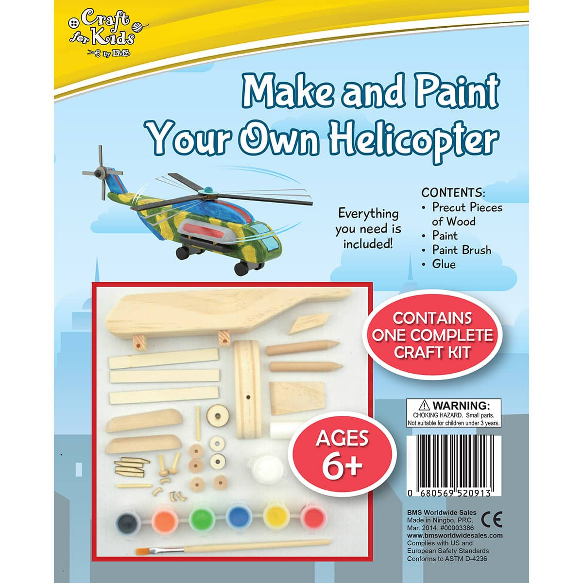 Make And Paint Your Own Wooden Helicopter by Craft for Kids by BMS