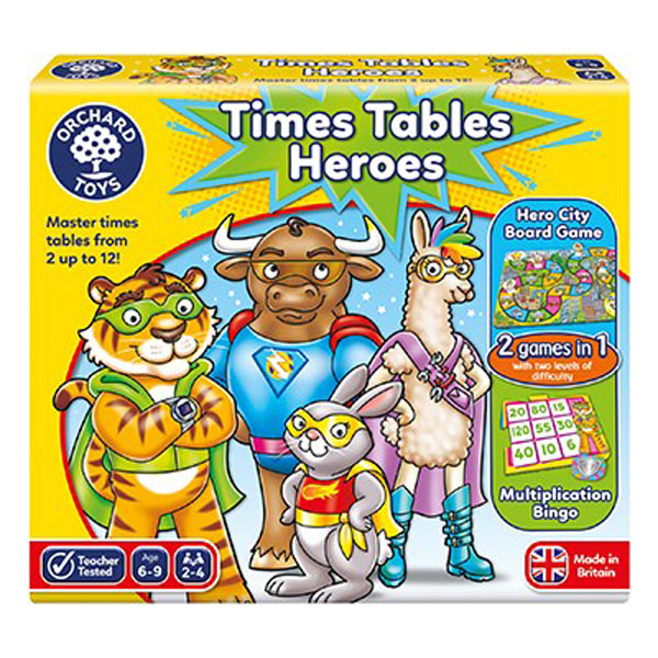 Times Tables Heroes  by Orchard Toys 6+