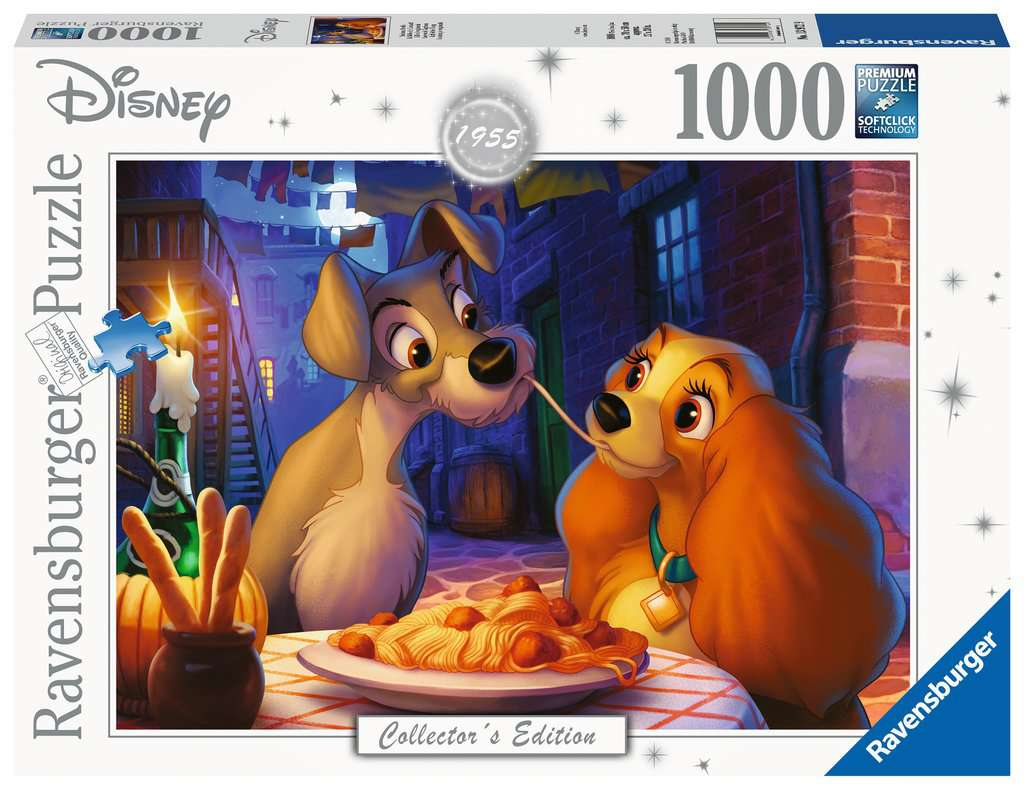 Ravensburger ~ Disney Moments 1955 Lady & the Tramp ~ Puzzle 1000 pcs