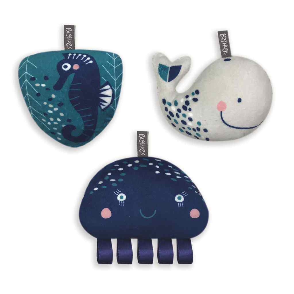 Whale of a Time 3 piece Toy set by O.B. Designs