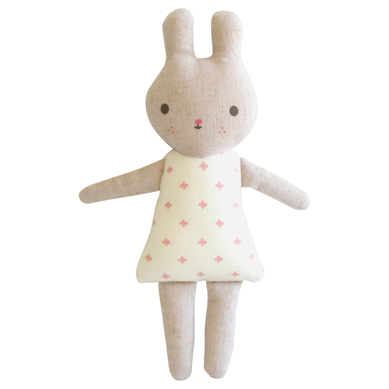 Bonnie Bunny rattle in Pink 19cm By Alimrose