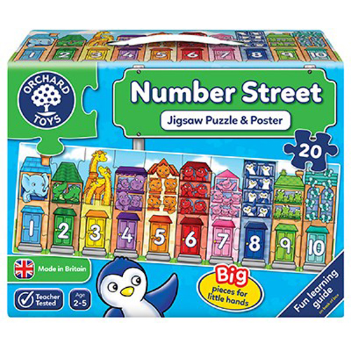 Number Street Jigsaw Puzzle & Poster by Orchard Toys 2+