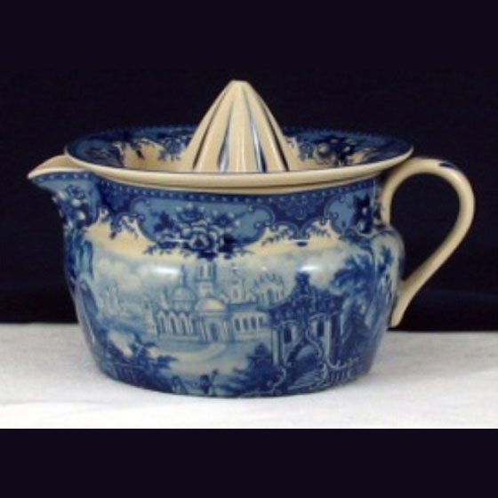 Lemon sqeezer - Blue & White French Vintage Design by Somerton Green