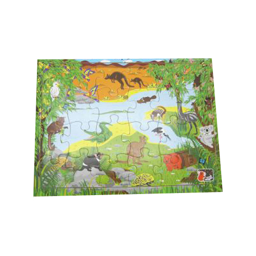 Wooden interlocking Australian animal jigsaw puzzle