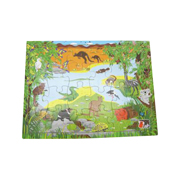 Wooden Australian Animals jigsaw, interlocking puzzle by Koala Dream ~ Kaper Kids