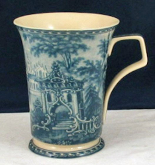 Mug set - Blue & white French Vintage design - Somerton Green