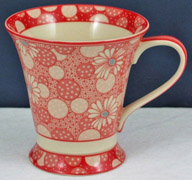 Red Daisy Tea Mug Set