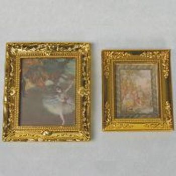 Miniature  Ballerina & Limoges Paintings x 2