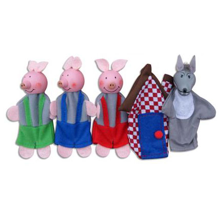 Finger puppets - 3 little pigs ~ Fun Factory