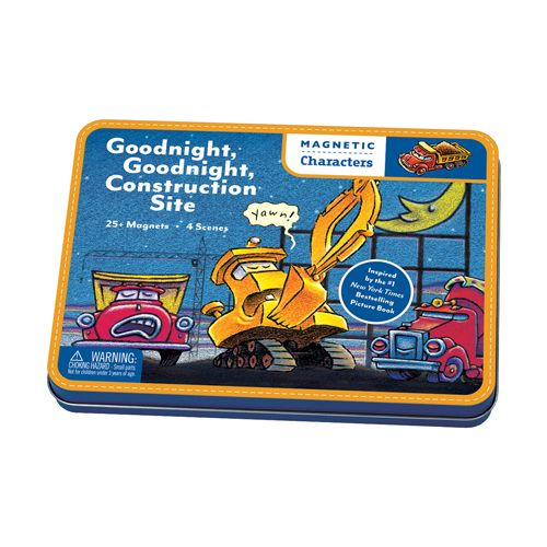 Mudpuppy  Magnetic Design play set  Goodnight Goodnight, Construction site