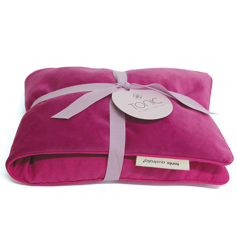 Luxe Velvet Heat Pillow Berry by Tonic