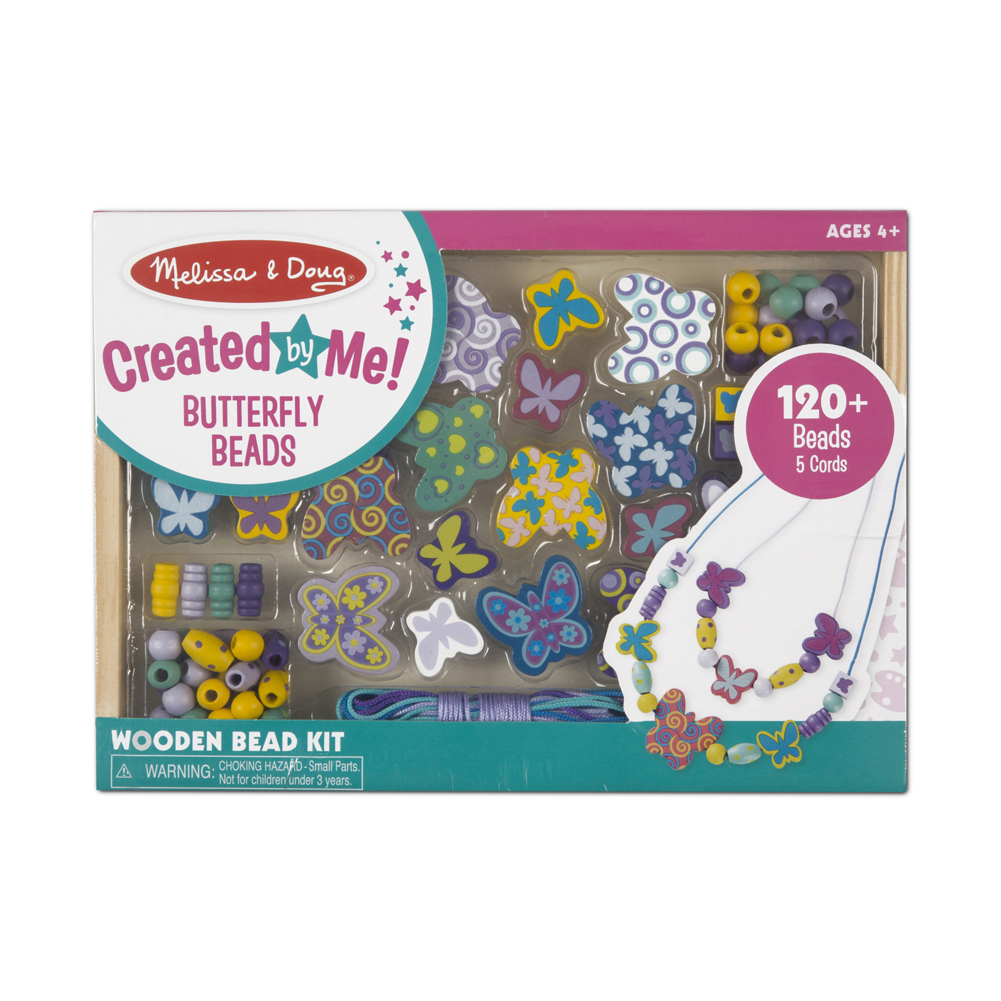 Melissa & Doug  ~ Created by Me! Butterfly Beads Wooden Bead Kit ~ 4+