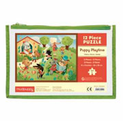 Mudpuppy 12 Piece Puzzle -- Puppy Time