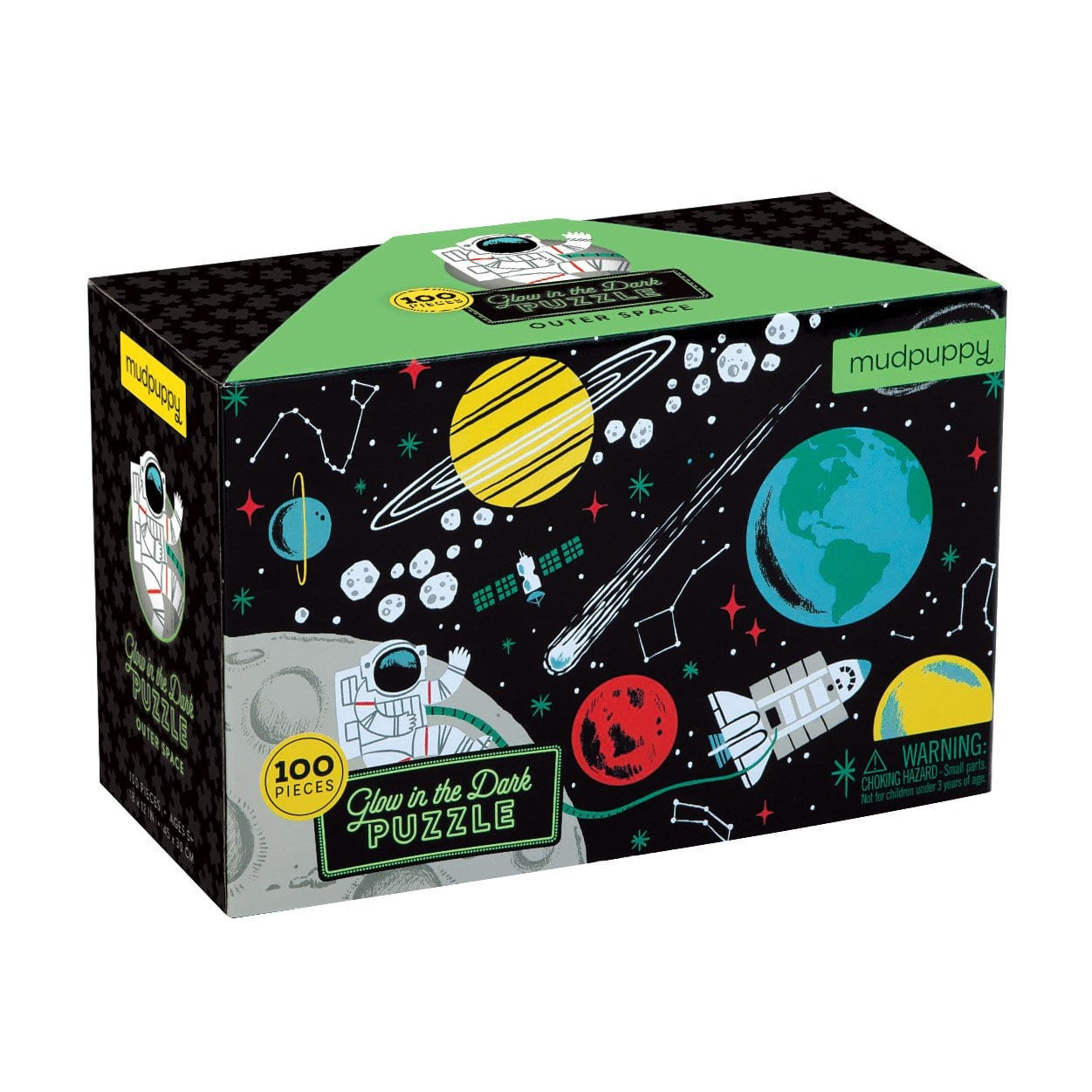 Glow in the Dark Outer Space Puzzles by Mudpuppy 100pc 5+
