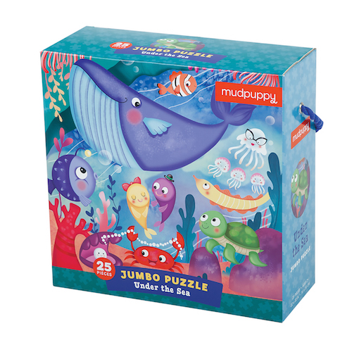Mudpuppy 25 Piece Jumbo Puzzle --Under the Sea 2+