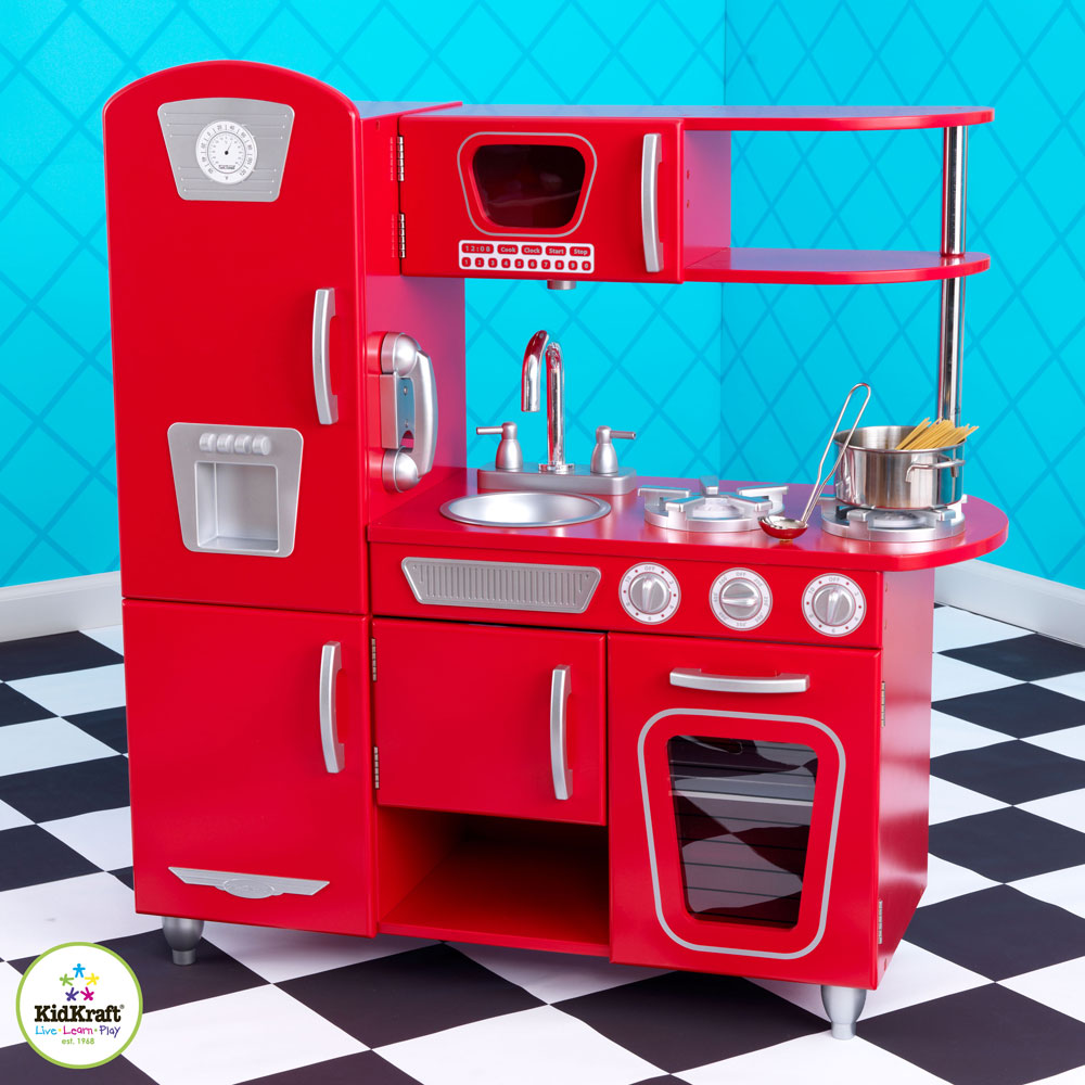 Red Vintage kitchen by kidkraft