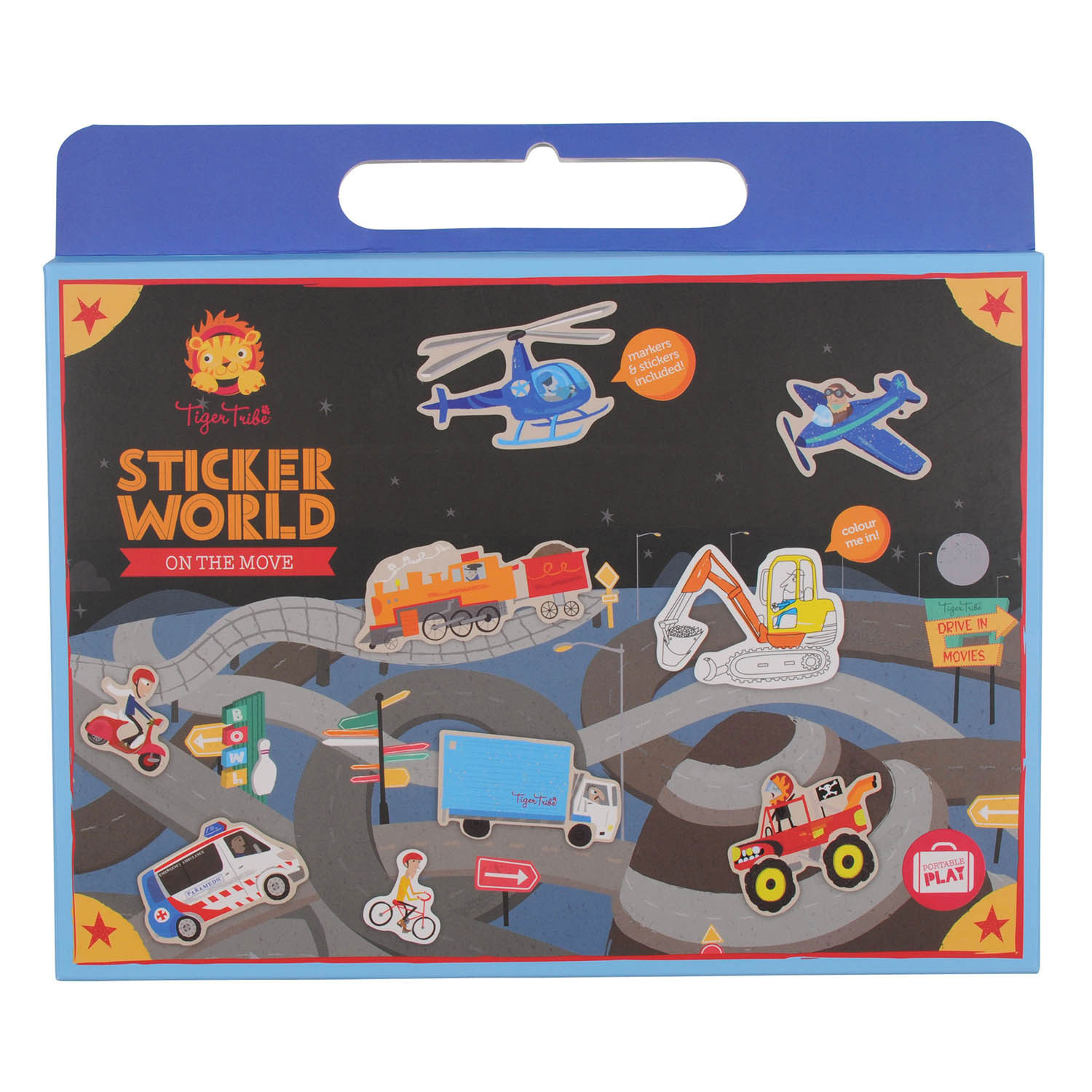 Sticker World - On the Move by Tiger Tribe