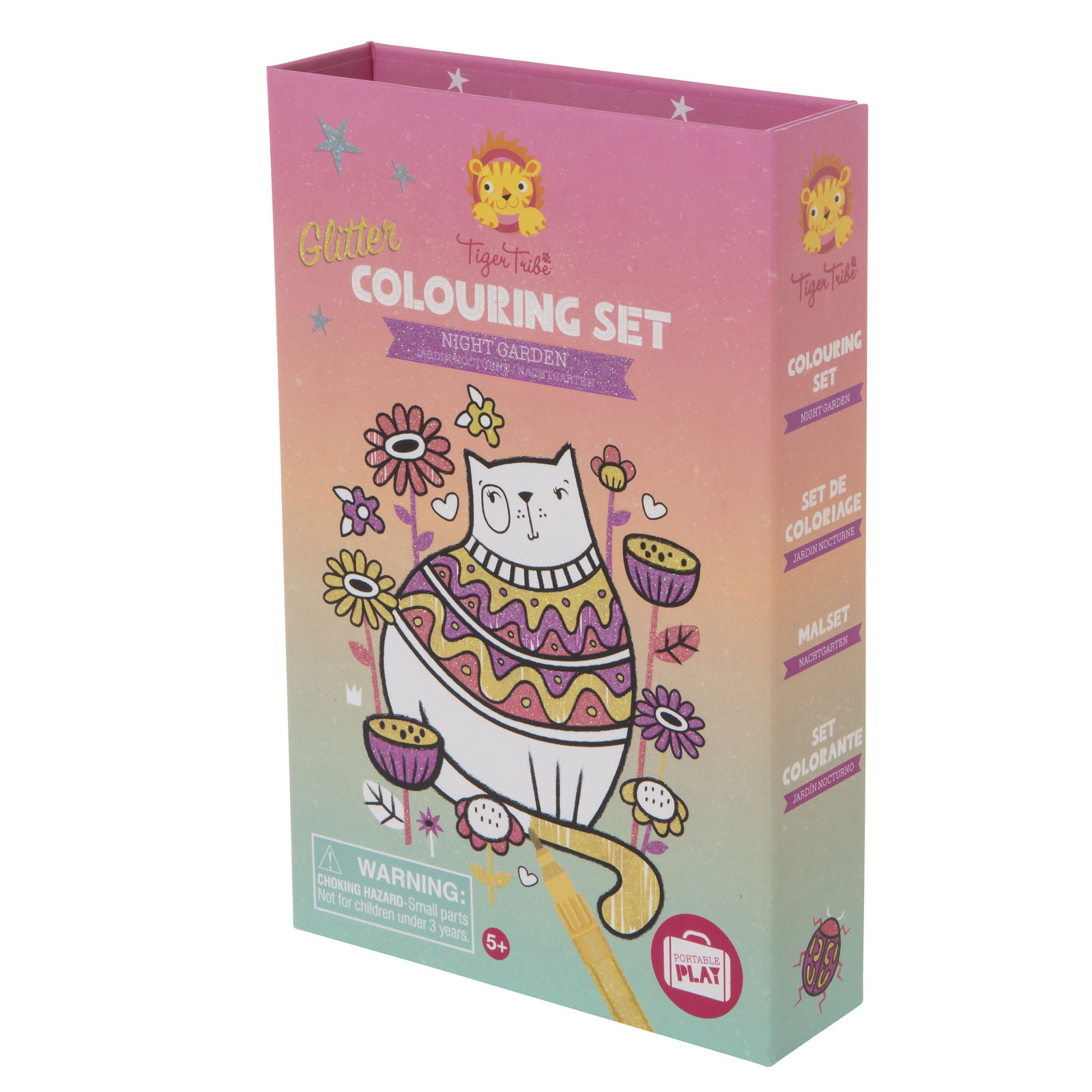 Tiger Tribe Night Garden Glitter Colouring set  5+