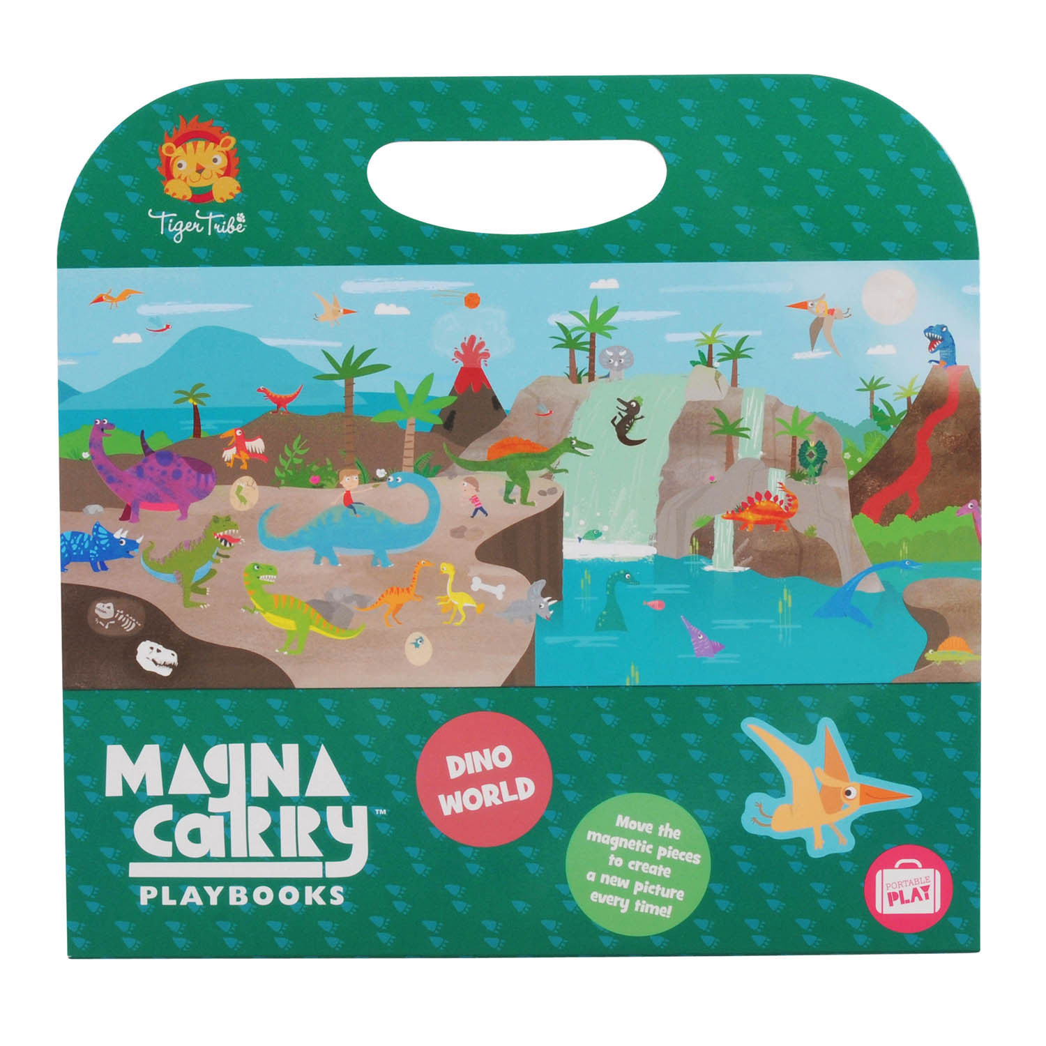 Magna Carry - Dino World ~ Magnetic Sets by Tiger Tribe