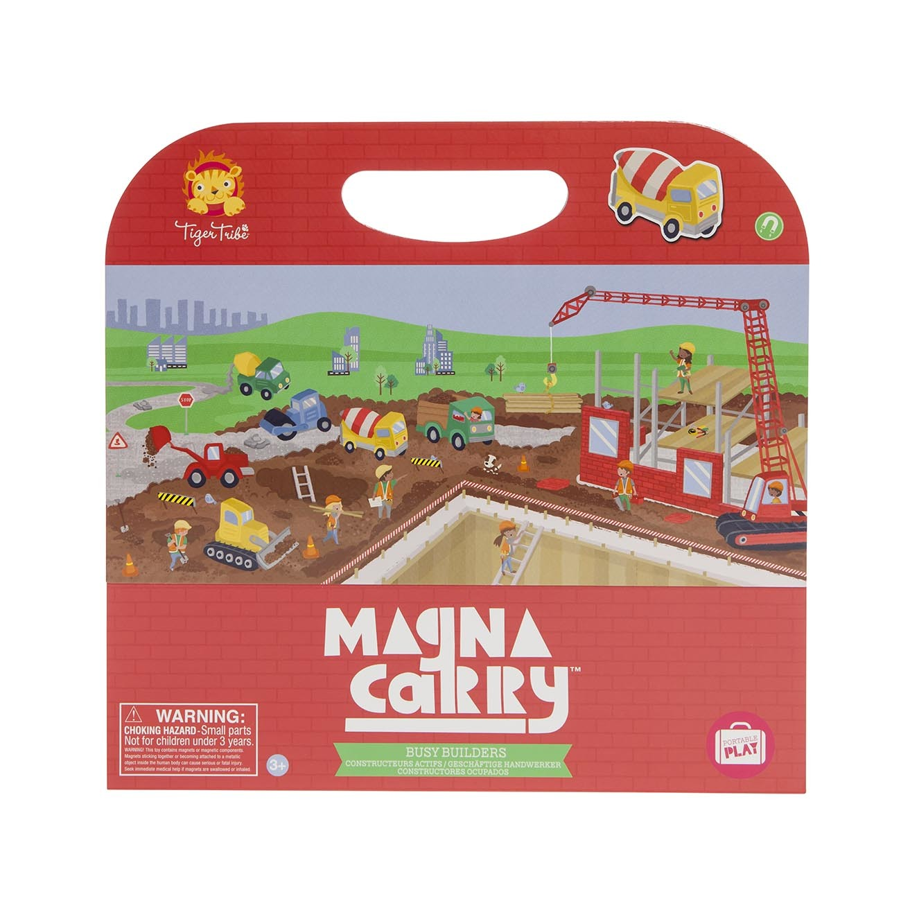 Magna Carry - Busy Builders ~ Magnetic Sets by Tiger Tribe