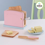 Wooden Pastel Toaster set by Kidkraft