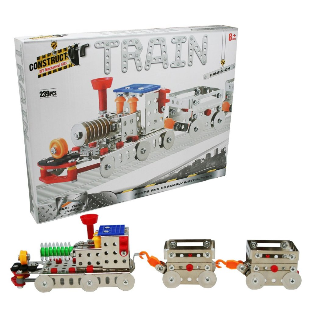 Construct It! Train DIY Mechanical Kit ~ Craft for Kids by BMS