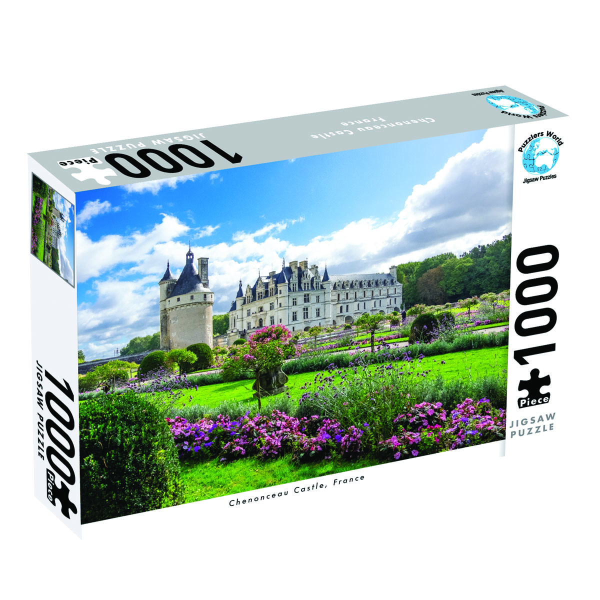 Puzzlers World ~ Artistic Jigsaw 1000pc Puzzle ~ Chenonceau Castle France