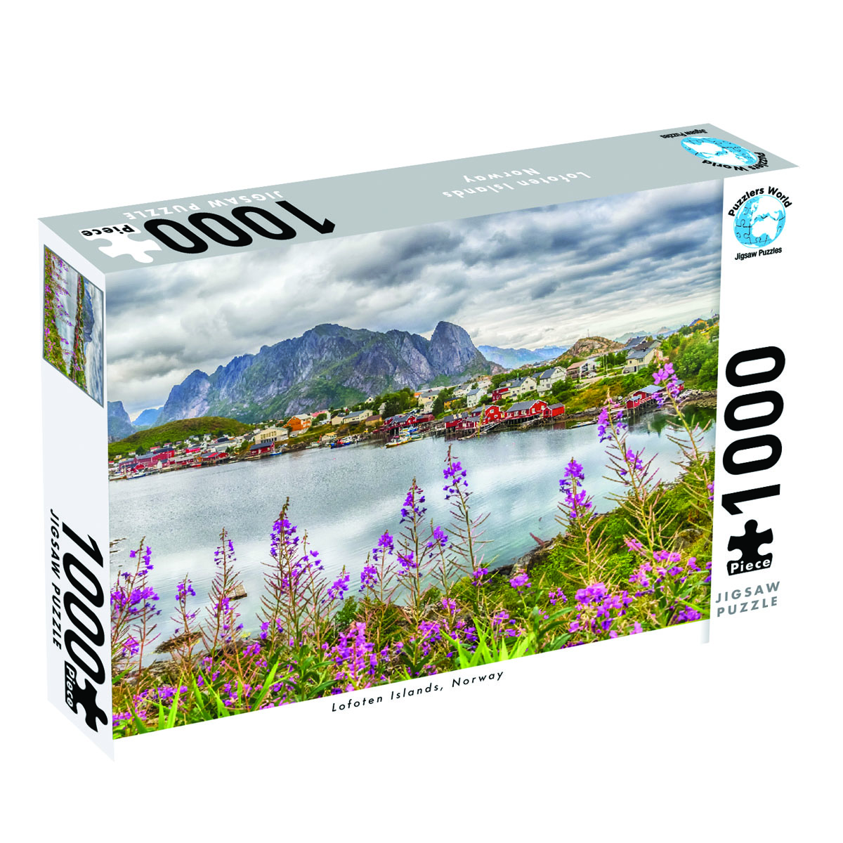 Puzzlers World ~ Artistic Jigsaw 1000pc Puzzle ~ Lofoten Island Norway