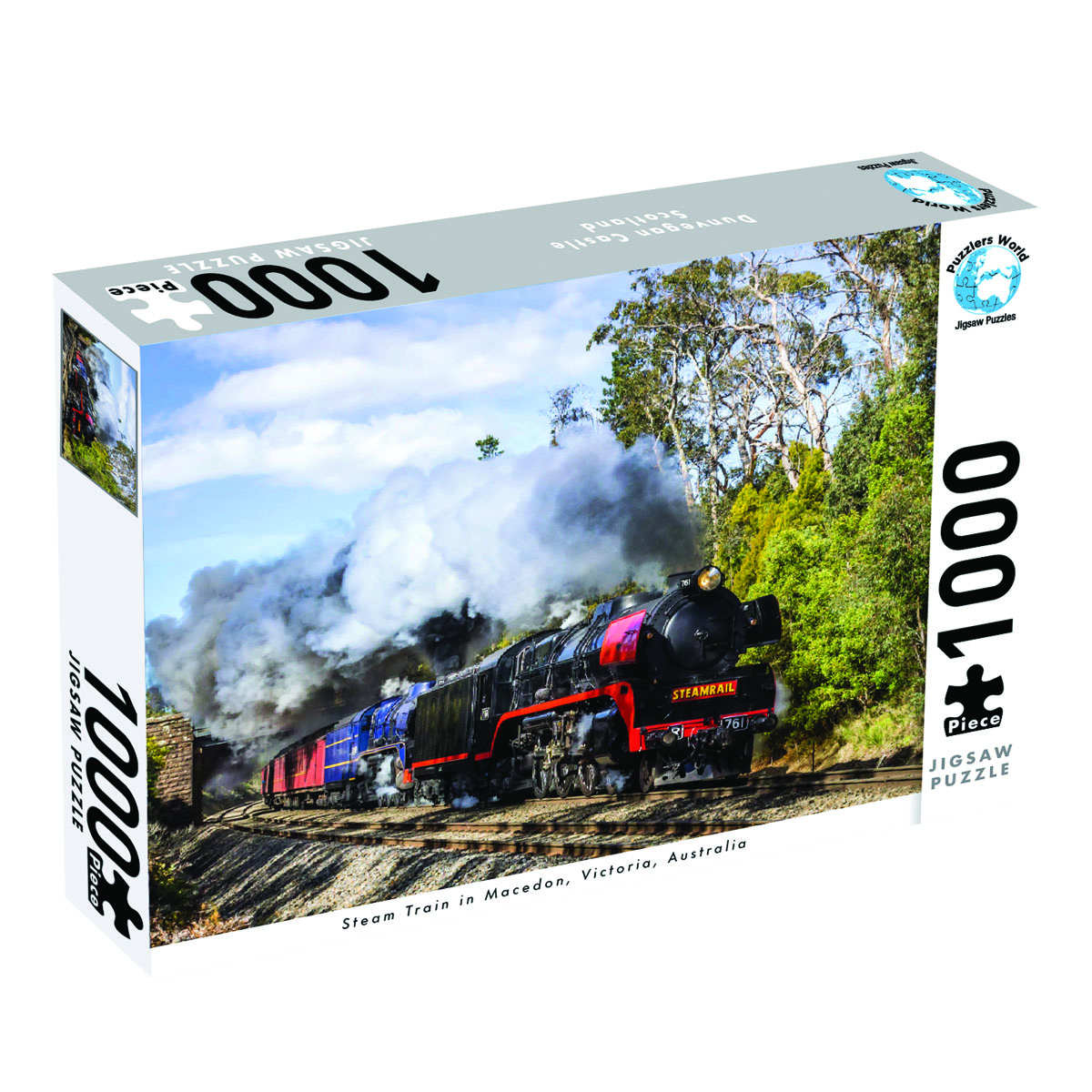 Puzzlers World ~ Artistic Jigsaw 1000pc Puzzle ~ Steam Train in Macedon Victoria