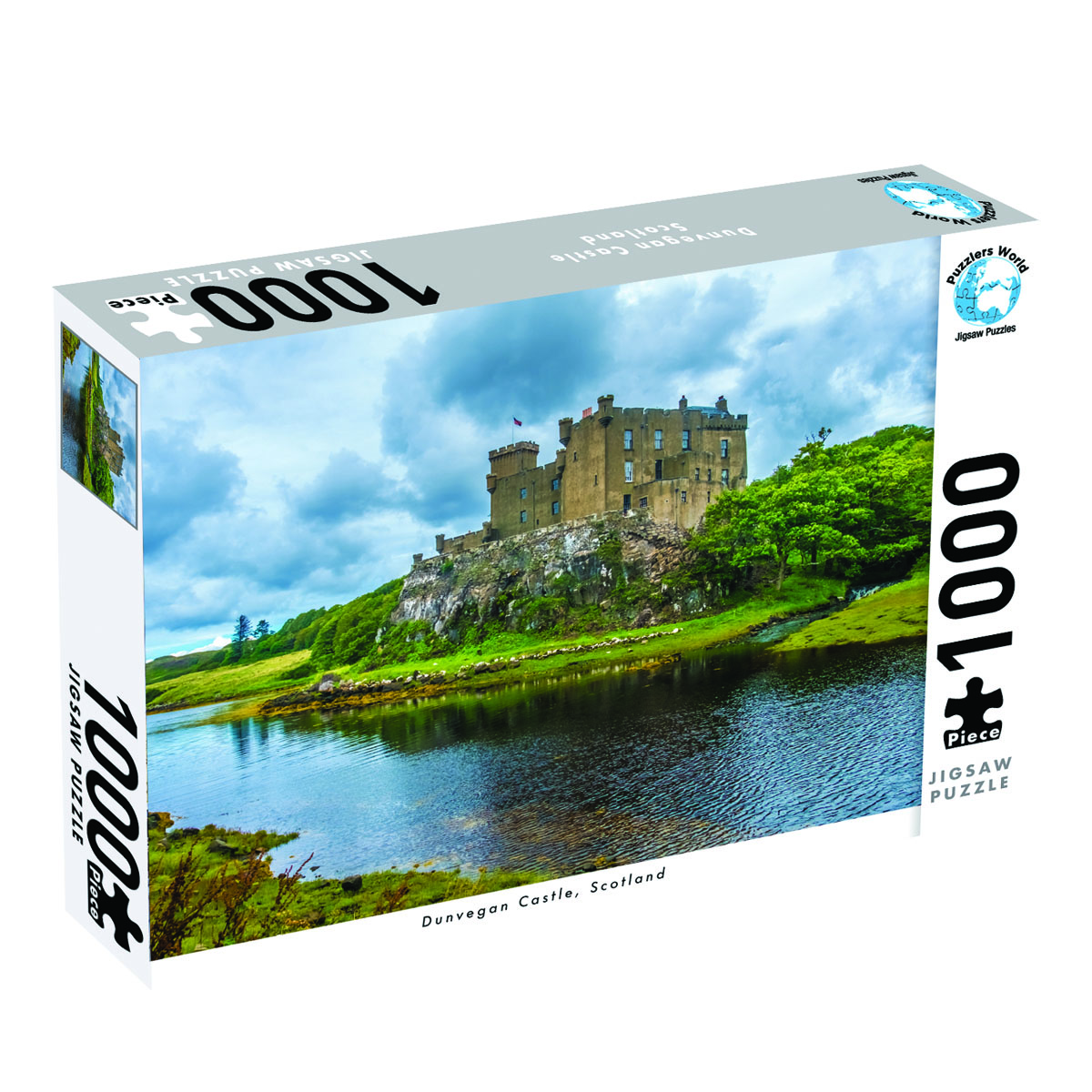 Puzzlers World ~ Artistic Jigsaw 1000pc Puzzle ~ Dunvegan Castle Scotland