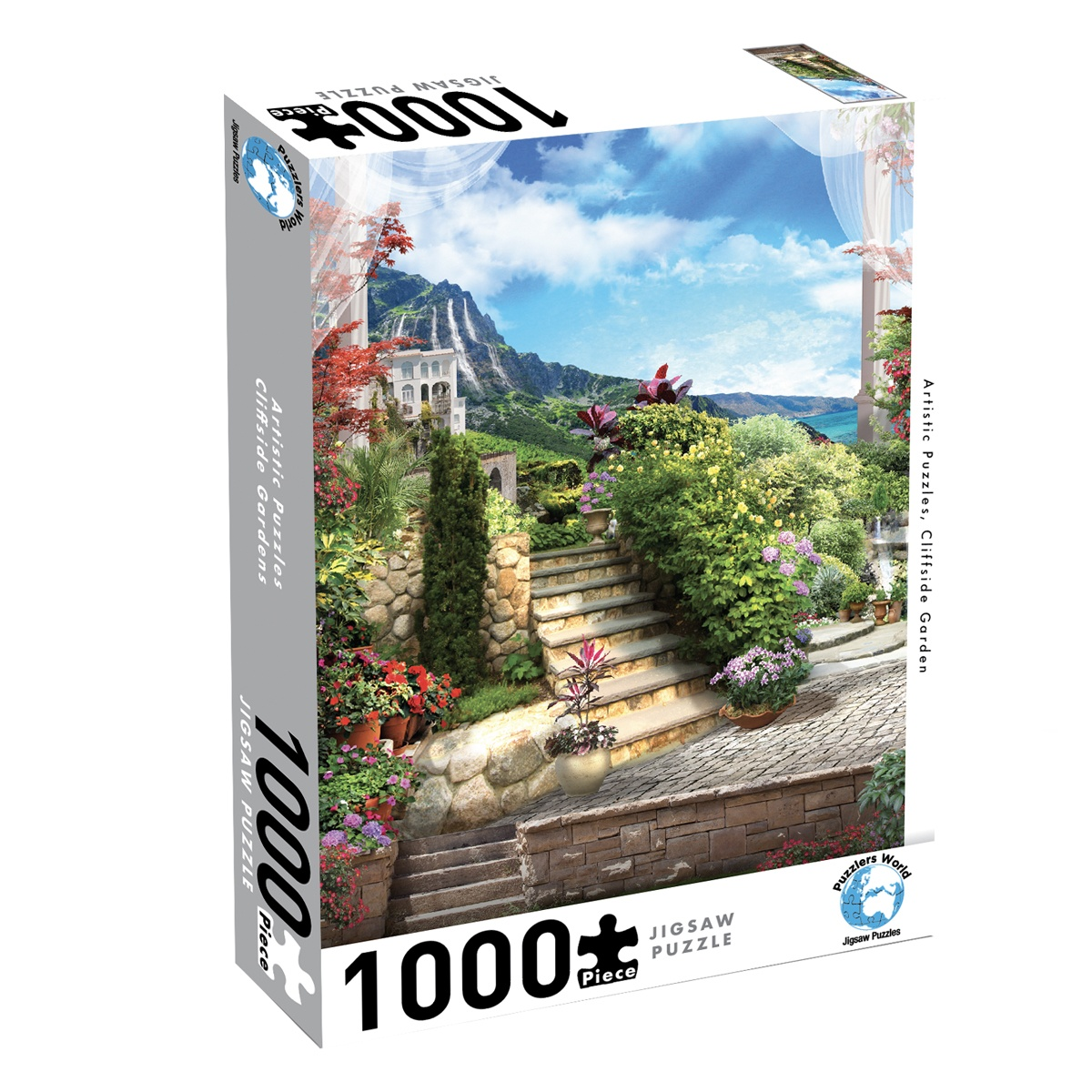Puzzlers World ~ Artistic Jigsaw 1000pc Puzzles ~ Cliffside Garden