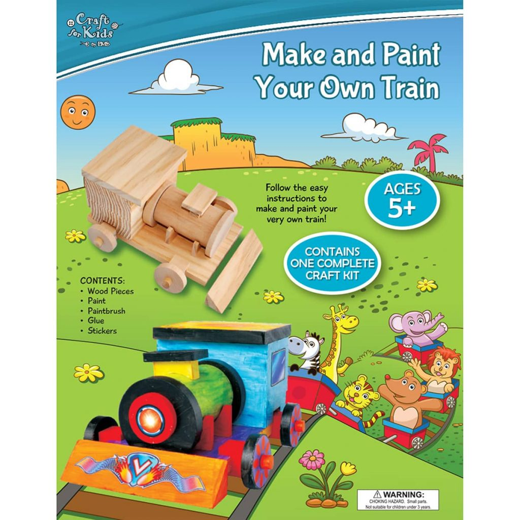 Make And Paint Your Own Wooden Train by Craft for Kids by BMS
