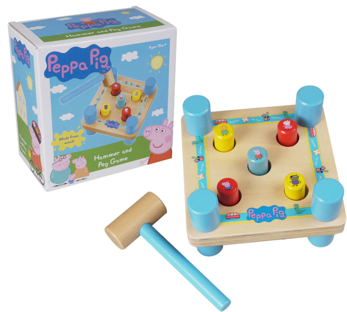 Peppa Pig Hammer & Peg Game by Tree Toys
