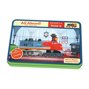 Mudpuppy -- Magnetic Design play set -- All Aboard -- Trains