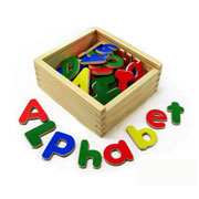 Wooden Magnetic Alphabet by Viga Toys