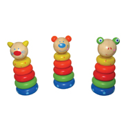 Wooden Animal Stacking Block by Kaper Kidz