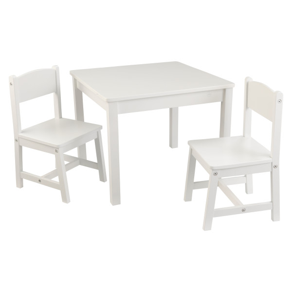 Aspen Table & 2 chair set by Kidkraft White