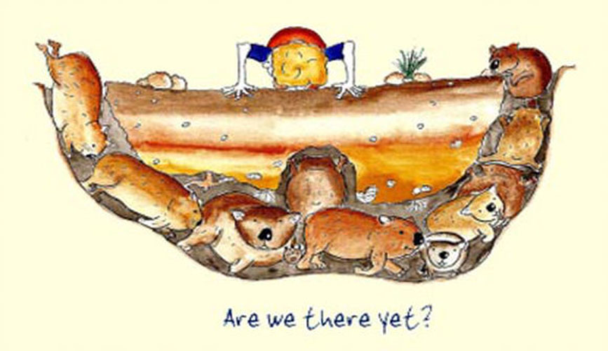 Australian Greeting Card ~ Are we there yet