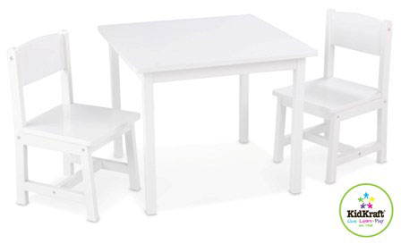 Kidkraft Table & Chairs - Aspen - White
