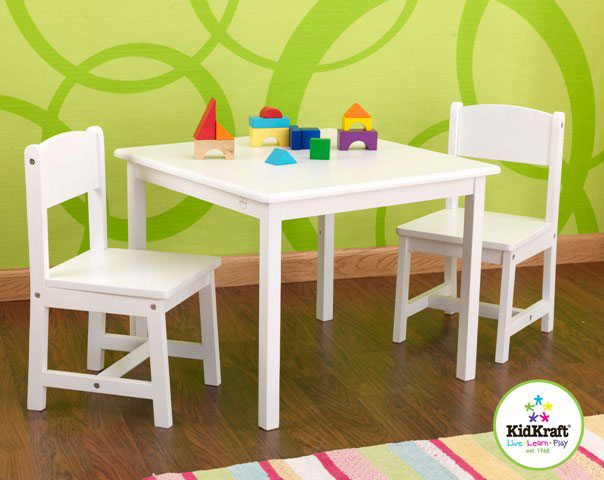 Aspen Table & 2 chair set by Kidkraft -- White