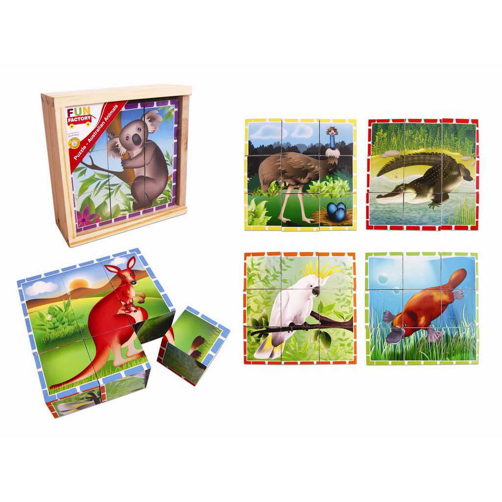 Wooden Block Puzzle - Australian Animals by Fun Factory