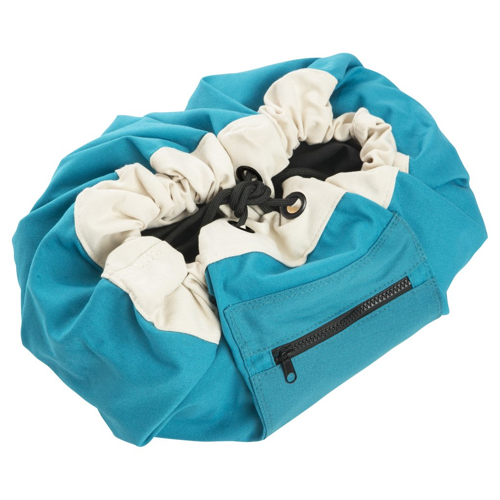Mini Play Pouch Ocean Blue - Storage Bag and Play Mat In One